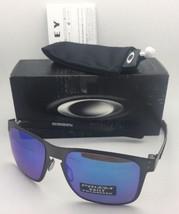 Polarized Oakley Sunglasses Holbrook Metal OO4123-07 Gunmetal w/ Prizm Sapphire - $219.95