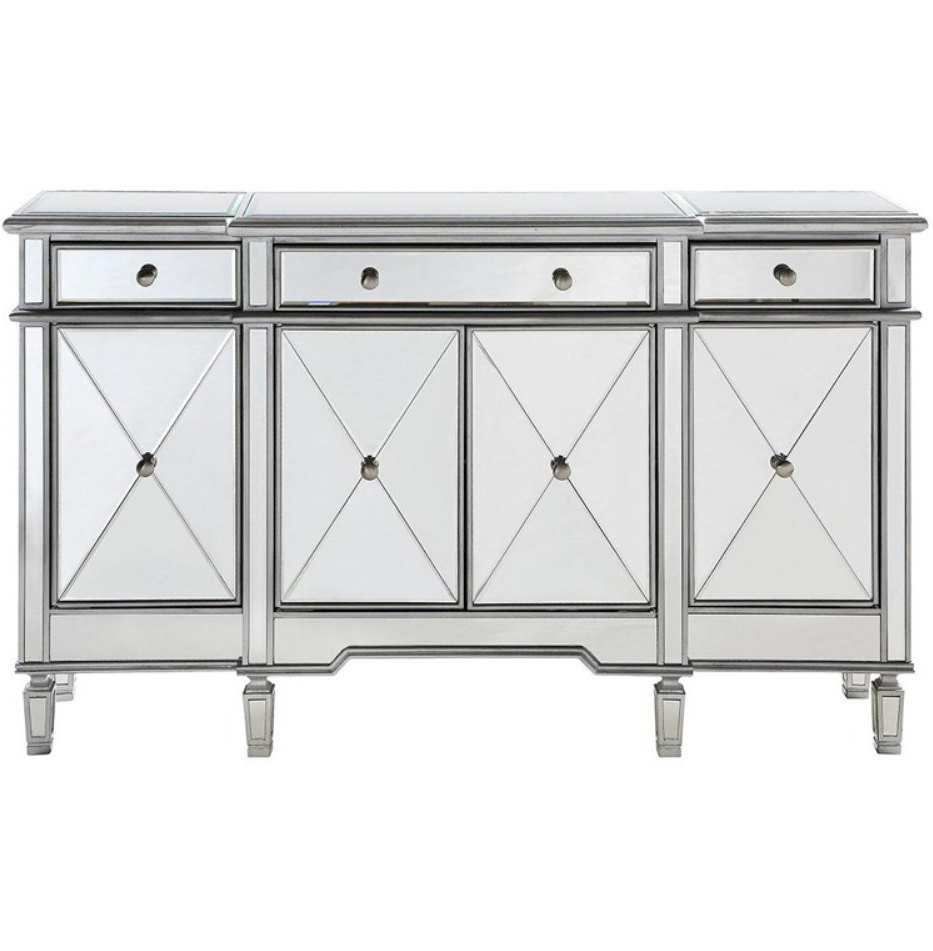 Buffet Table Server Sideboard Mirrored Cabinet Storage Drawers Doors China Home image 7