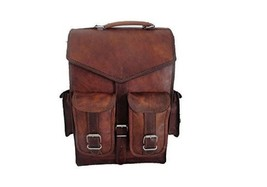 New Genuine Men's Vintage Leather Backpack Satchel Briefcase Laptop Brow... - $66.04
