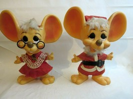 "Mr.+ Mrs. Santa Mouse Troll Dolls 11"" Royalty Industries Banks 1970 Ori... - $113.05"