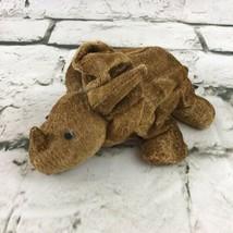 Russ Berrie Zonies Earth Zone Dinosaur Plush Beanbag Triceratops VTG 1996 - $11.88