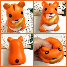 Squirrel Holding Corn Stre Slow Rising Squishy Stress Relive Squeeze Toy Gift US - $4.98