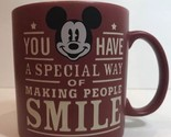 Disney Parks Mug Mickey Mouse You Have a Special Day of Making People Smile Cup