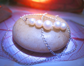 Haunted Necklace 3X RESILIENCE STRENGTH HEALING MAGICK 925 PEARL WITCH C... - $10.50