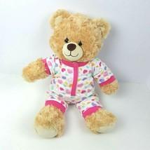 "Build a Bear Tan Teddy Bear Plush With Pajamas Stuffed Animal 17"" Beige  - $23.76"