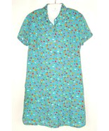 Vtg 90s Kathie Lee Geometric Shift Dress Tie Back Hippie BOHO Grunge lin... - $29.65