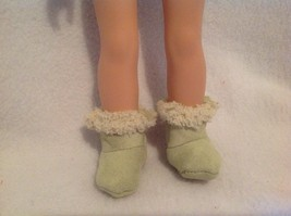 """Fit Wellie Wishers American Girl fuzzy green boots shoes winter 14"""" doll... - $7.91"""
