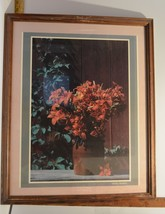 Framed Under Glass Photograph of Lily Type Flowers by Stanley Ehrenberg ... - $17.15