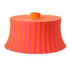 "IKEA Amtevik Lamp Round Shade Orange Pink Stripes Size 22"" Fun Shape - $23.75"