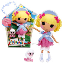 """NEW HOT Lalaloopsy 12"""" Tall Button Rag Doll Little Bah Peep+Pet White Sh... - $84.99"""