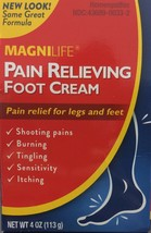 MagniLife Pain Relieving Foot Cream 4 oz Free Shipping Exp:1/23 - $18.80