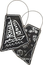 Rhode Island State Shape Ornament Primitives by Kathy Sailboat Black Cha... - $8.95