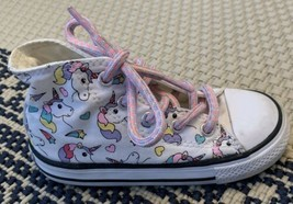 CONVERSE All-Star Chuck Taylor Size 8 Kids Unicorn High-Top RIGHT ONLY A... - $9.49