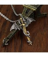 HANCHANG Vintage, Gothic Sword & Dragon Theme Unisex Necklace / Pendant - $7.99
