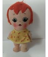 The Flintstones vintage Knickerbocker 1972 PEBBLE toy doll Condition Issues - $11.39
