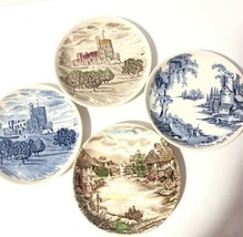 """Johnson Brothers Set Of 4 Small Decorative Plates/Coasters 4.25"""" Preowned - $24.50"""