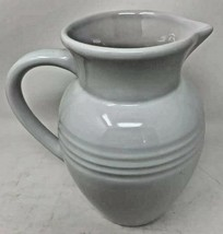 Le Creuset Poterie 2 Quart Ceramic Stoneware Jug Pitcher Solid White Far... - $28.04