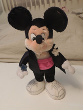 "Vintage APPLAUSE Mickey Mouse in Tuxedo Plush Toy Doll 18"" 1987 w Tag Rare - $15.17"
