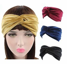 4-pack Velvet Knot Headband Noble scrunchies Twist Hair Band Turban Hair... - $15.59