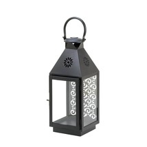 Metal Lantern Candle, Black Iron Decorative Lanterns For Candles Outdoor... - $37.22