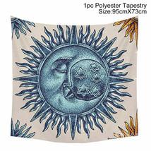 Art Tapestry Wall Hanging Mandala Pattern Tapestry: blue sleep moon - $10.69