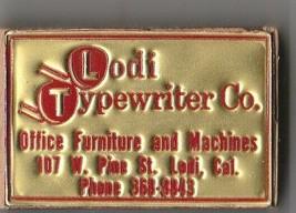 Vtg Strike on Match Box with local advertisement & sticks ~ Lodi Typewri... - $7.91