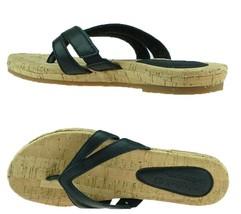 Timberland Women's Earthkeepers Spaulding BLACK Thong Sandals Flip Flops #8023A - $32.99+