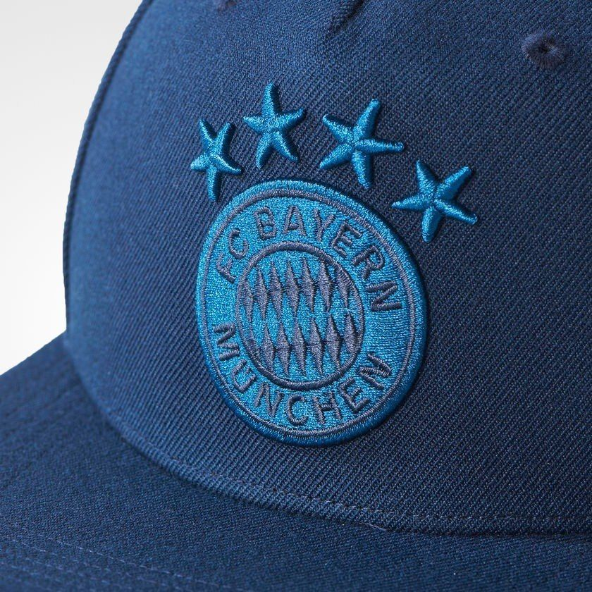 Adidas Bayern Munich Munchen Cap Football Men Hat Navy Blue  Flat Brim Snapback