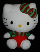 "Hello Kitty Plush TY Sanrio 6"" Christmas Holiday Stocking Stuffer Beanie Baby - $12.61"