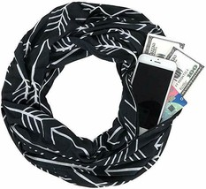 Pocket Scarf - Infinity Scarf With Pocket Travel Scarf Zipper Scarfs For Women