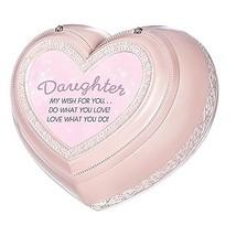 Roman Daughter My Wish Heart Music Box Pink - $52.38