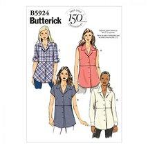 Butterick Sewing Pattern 5924 - Ladies Shirt Sizes: 18-20-22-24-26 - $11.75
