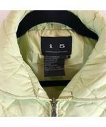 UPS Quilted Womens Sz M Zip up Puffer Jacket Light Weight Green Coat - $27.76
