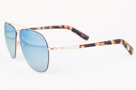 Tom Ford April Rose Gold / Blue Mirror Aviator Sunglasses TF393 28X - $175.42