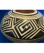 Large Native American (Hopi?) Pottery Bowl Signed Barney - $40.00