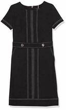 NWT Tommy Hilfiger Women's Scuba Crepe-Top Stitch Shortsleeve Sheath, Bl... - $49.99