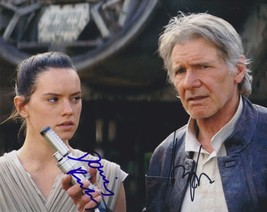 "Harrison Ford & Daisy Ridley Signed Autographed ""Star Wars"" Glossy 8x10 Photo - $199.99"
