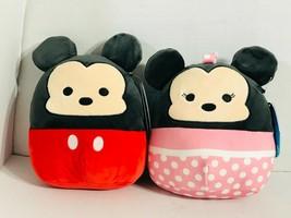 """Disney Squishmallows Mickey & Minnie Mouse Set 8"""" Plush KellyToy NWT - $24.99"""