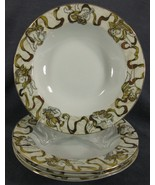 American Atelier Heavenly Hosts 3373 Soup Bowls Lot of 4 Cherubs Golden Ribbon - $27.95