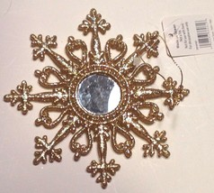 Raz Christmas Ornament Glittery Gold Snowflake New with Tags - $10.40