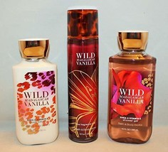 Bath & Body Works Wild Madagascar Vanilla Set, Body Lotion 8 Oz, Shower ... - $32.87