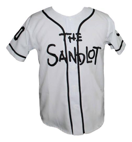 Rodriguez  30 The Sandlot Movie Button Down Baseball Jersey New ... cbbbbb942