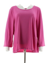 Women with Control 3/4 Bell Slv T-Shirt Fresh Orchid L NEW A301325 - $22.75