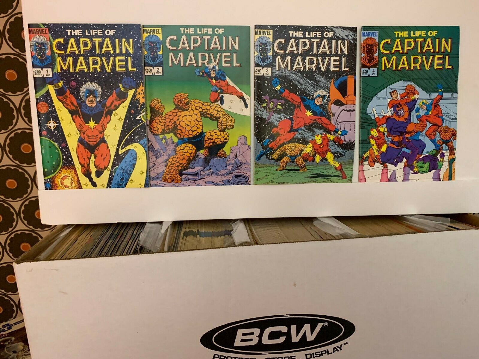 THE LIFE OF CAPTAIN MARVEL (MARVEL COMICS) 1985, 1990 VF COMPLETE 5 BOOK SET