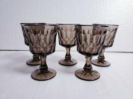 "Vintage Noritake Brown Perspective 4 7/8"" Wine Glasses 4.5 Oz - Set Of 5 - $24.74"