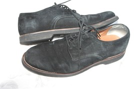G.H.Bass Signature Size 11 D Buckingham Black Suede Leather Oxford Dress Shoes - $24.75