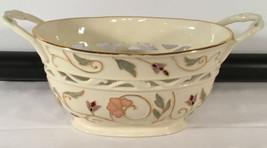 Lenox Gilded Garden Ivory Multicolor Floral Basket - $39.55