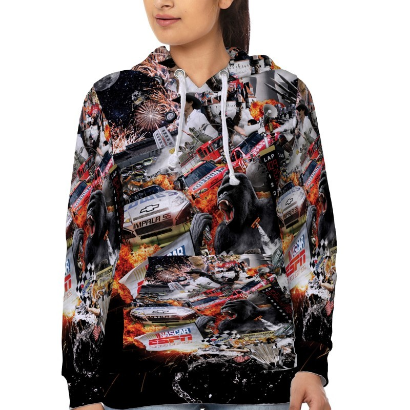Nascar Racing 01   Hoodie Fullprint for women