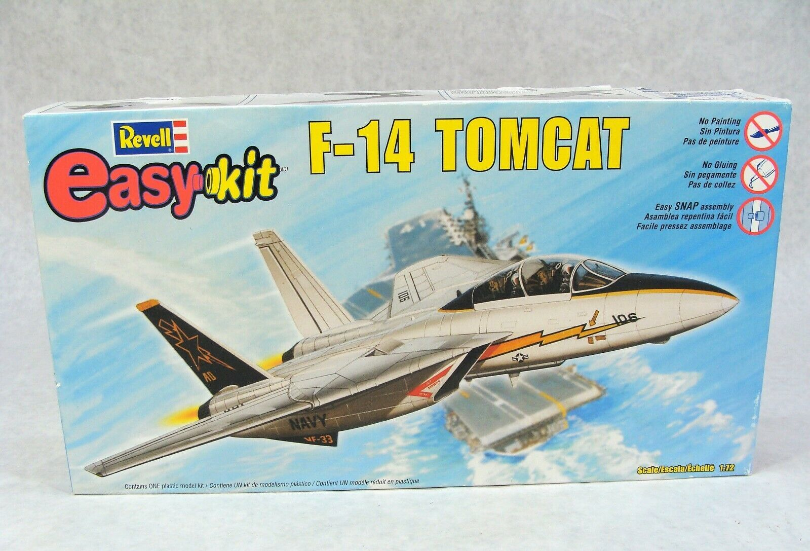 Primary image for REVELL F-14 TOMCAT JET AIRPLANE MILITARY 1/72 MODEL KIT NEW!