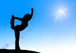 Digital Download Yoga Woman Watercolor Wallpaper - $4.99